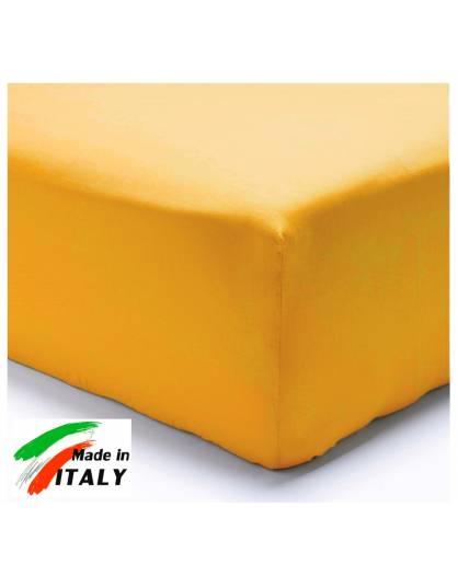 Lenzuolo Angolo con Elastici Una Piazza e Mezza Made in Italy Percalle di Cotone OCRA