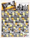 Lenzuolo Angolo con Elastici Una Piazza e Mezza Made in Italy Percalle di Cotone NEW-YORK