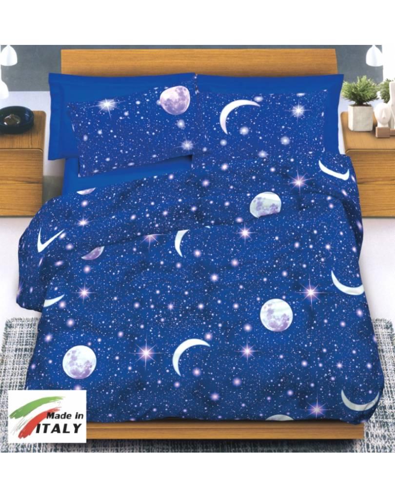 Completo lenzuola made in italy 100 cotone fantasia luna - Lenzuola letto una piazza e mezza ...