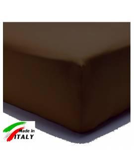 Lenzuolo Angolo con Elastici Una Piazza Maxi Lenzuoli Made in Italy Cotone MORO