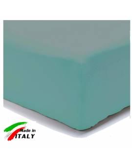 Lenzuolo Angolo con Elastici Una Piazza Maxi Lenzuoli Made in Italy Cotone TURCHESE
