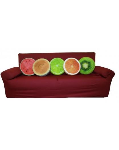 Cuscino sedia seggiola rotondo sfoderabile frutta fruit tronco idea regalo