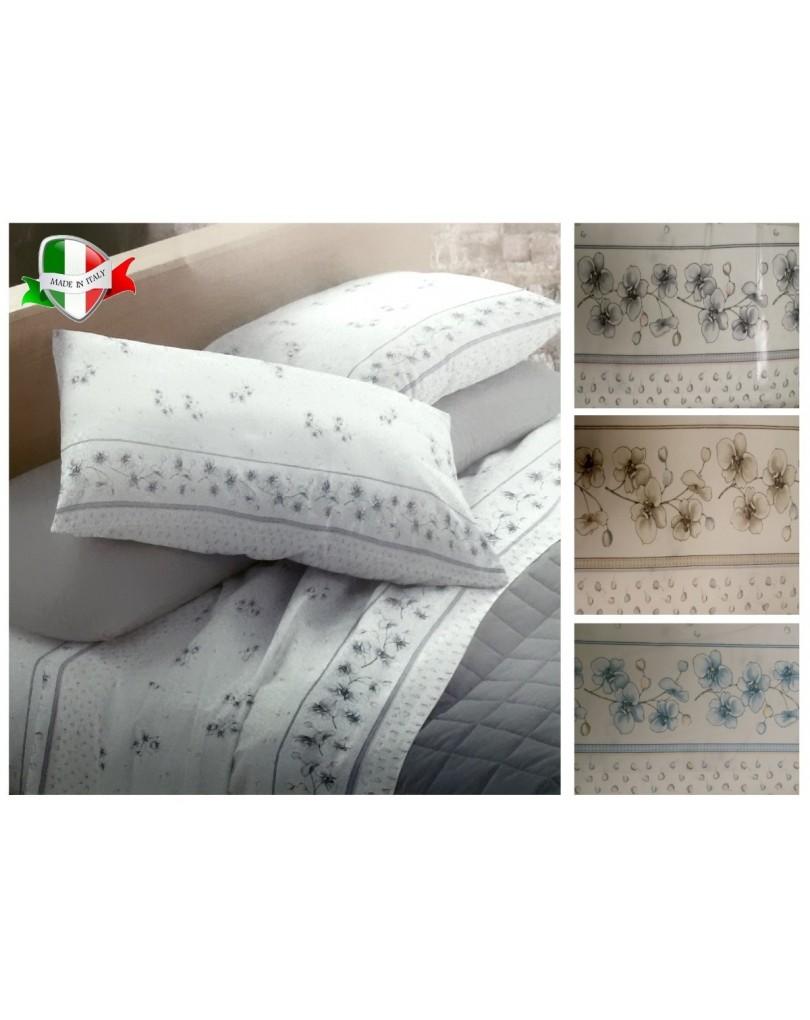 Completo Sacco Copripiumino Matrimoniale Flanella.Completi Lenzuola Matrimoniali Flanella Made In Italy