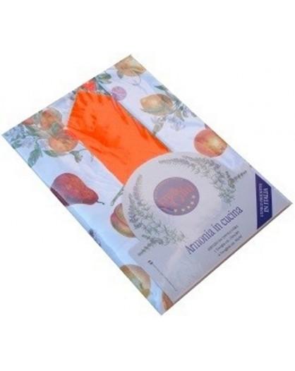 Tovaglia tavolo cucina pranzo 12 tovaglioli italiano 100% cotone frutti arancio rossi