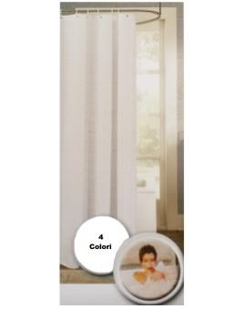 Tenda doccia vasca bagno 180x180 cm ad anelli lavabile no stiro tinta unita