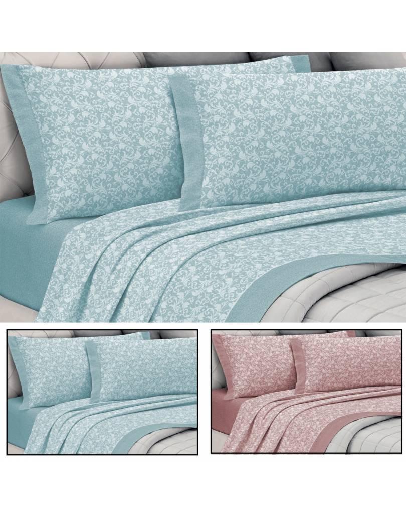 Completo lenzuola letto matrimoniale flanella caldo cotone - Completo letto matrimoniale seta ...