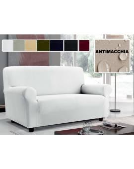 Copridivano 3 posti ANTIMACCHIA in tinta unita copertura divano estensibile