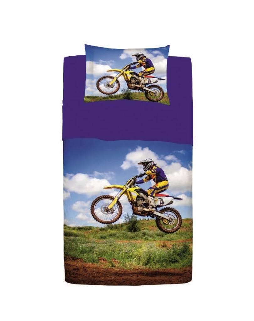 Completo lenzuola copriletto una piazza e mezza cotone motocross - Copriletto una piazza e mezza ikea ...