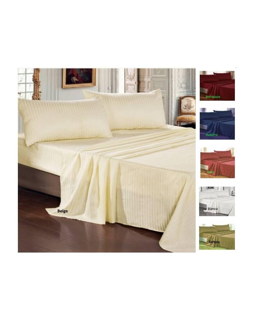 Completo lenzuola matrimoniali raso di cotone in tinta unita - Completo letto matrimoniale seta ...